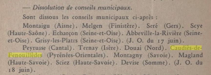 Bulletin Ministère de l'intérieur de Vichy du 24 juin 1941 (gallica.bnf.fr)