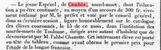 Journal des Pyrénées Orientales 28 novembre 1835