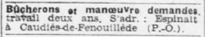 bucherons 1941