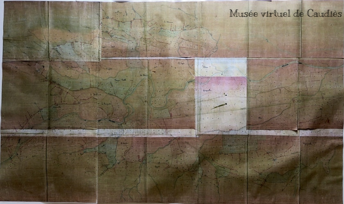 Plan des Canaux de Caudiès datant de Napoléon III, gardé à la Mairie