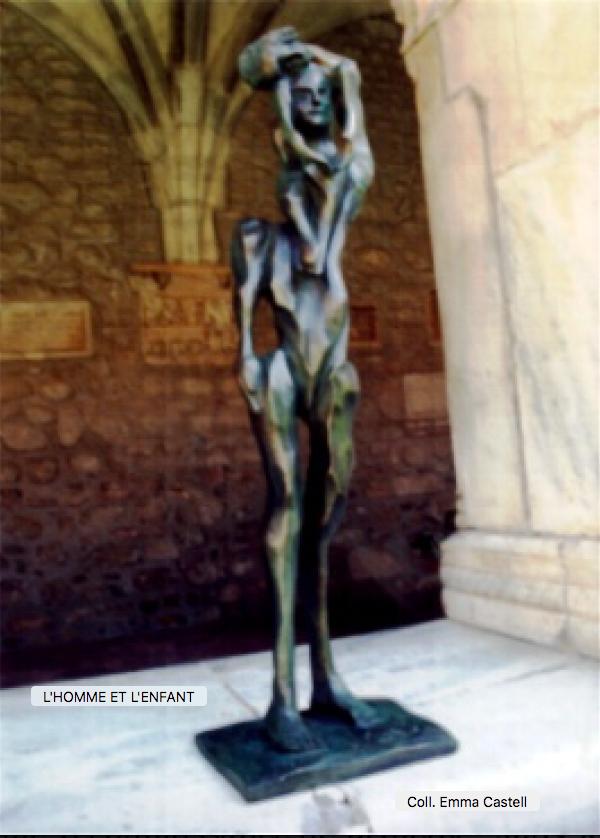 Bronze L'homme et l'Enfant