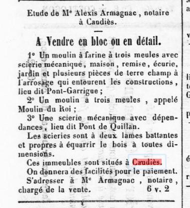 Moulin vente 1863
