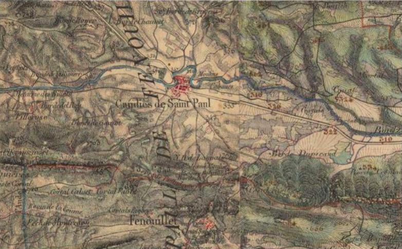 Fig.3 Carte État Major début XIX siècle