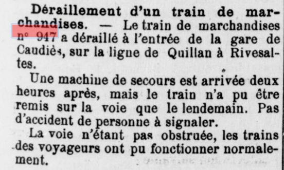 Train Déraillement
