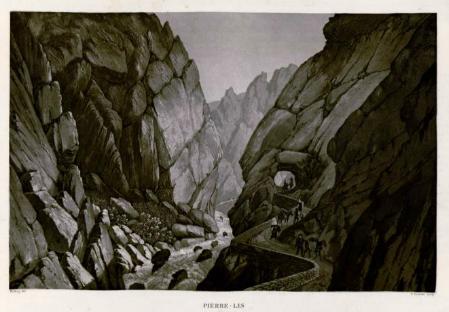 """""""Pierre Lis"""" en 1821. Illustration de Meilling, (In """"Voyage pittoresque dans les Pyrénées Françaises"""" publié en 1830"""