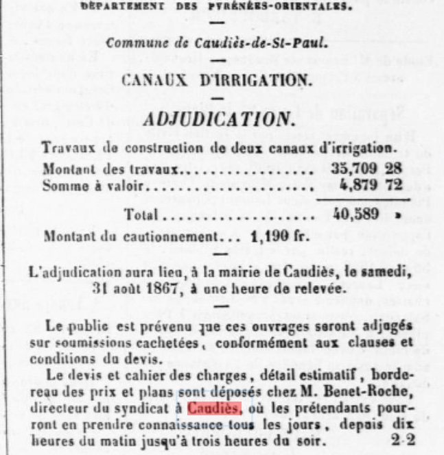 canaux adjudication 1867