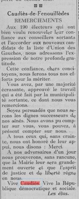 Journal La Gauche 16 mai 1935 (ressourcespatrimoines.laregion.fr)