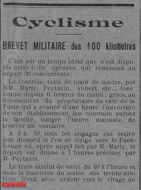 Cyclisme 1925
