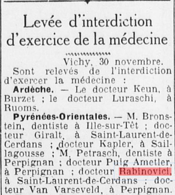 Le Petit Méridional  1er décembre 1941 (ressourcespatrimoines.la region.fr)