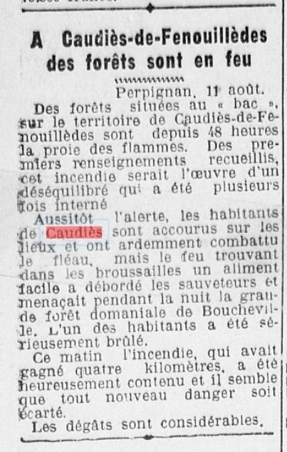 Incendie Bac 1942
