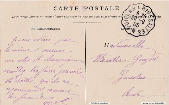 Carte postale septembre 1905