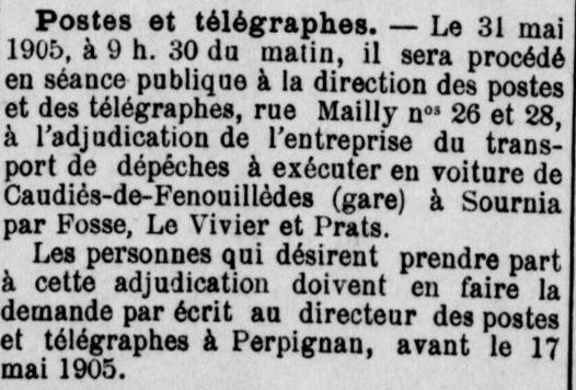 Postes et dépêches 1905