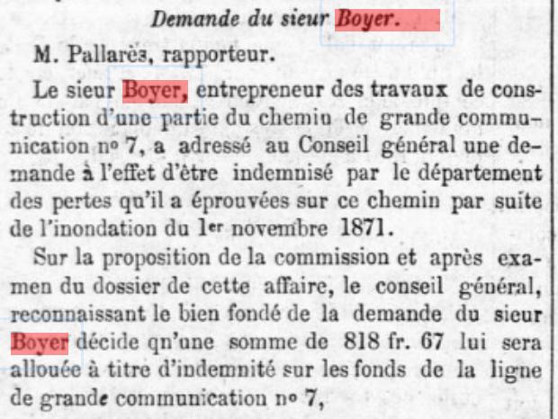 Boyer travaux chemin n°7