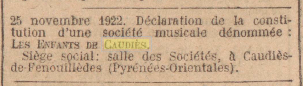J.O. 16 décembre 1922