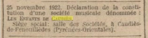 chorale J.O. 25 novembre 1922