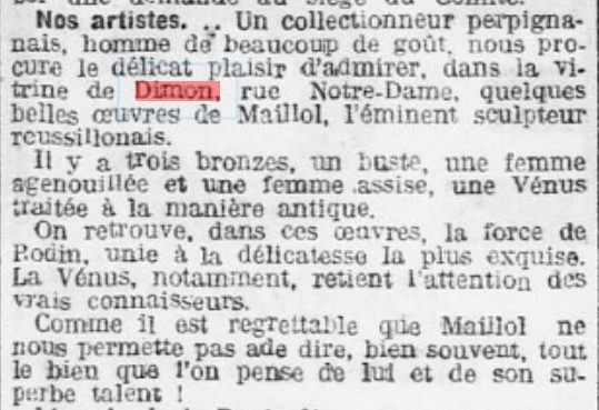 Dimon Maillol 1918