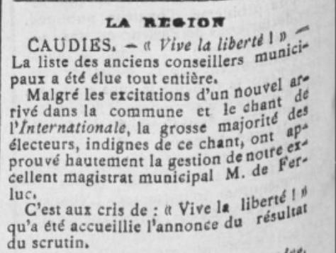 De Feluc élections 1904