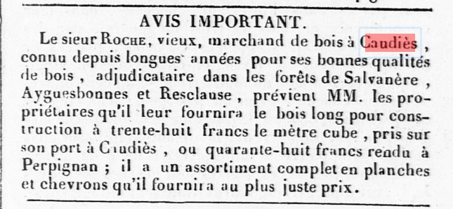 Bois Roche 1845