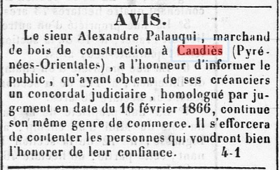 Bois Palauqui 1866 (JPO  20/3/1866)