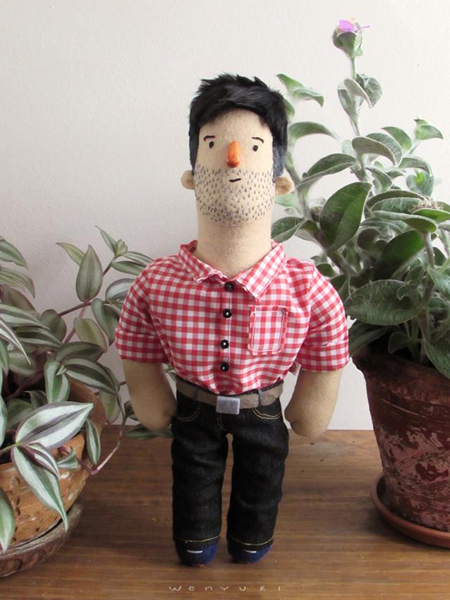 muñeco personalizado, retrato, caricatura, cartoon, custom doll, muñeco de fieltro, hecho a mano, handmade, encargos, regalos personalizados