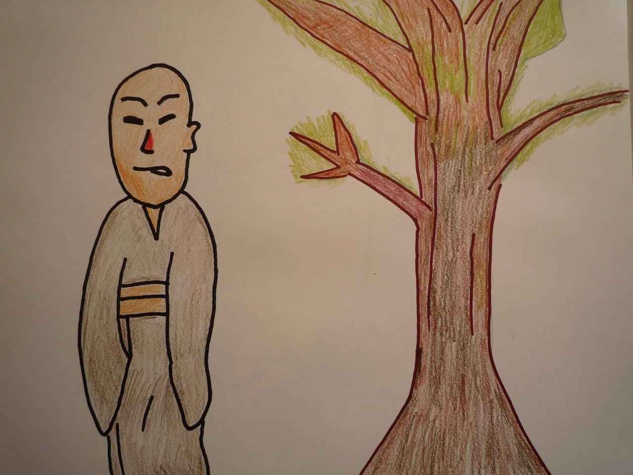 寺に大きな榎木があったので、本名ではなく、榎木和尚と呼ばれていました。