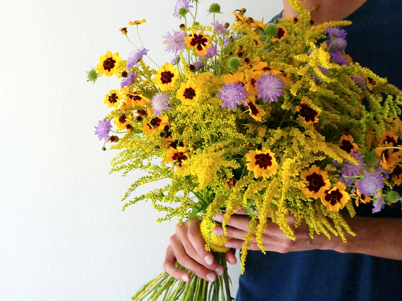 Wild flowers bouquet Venice