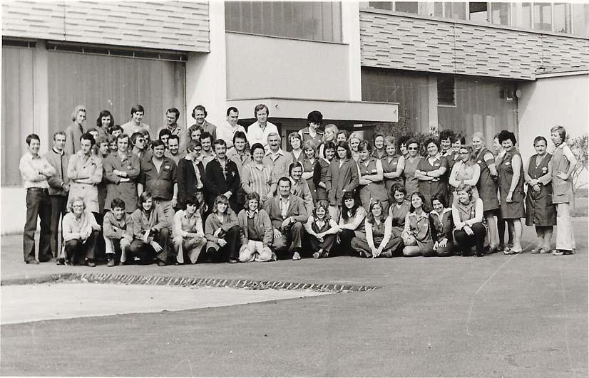 1973: BAU EINES NEUEN FIRMENGEBÄUDES Durch ein stetiges Firmenwachstum wurde ein neues Gebäude in Haid bei Ansfelden errichtet