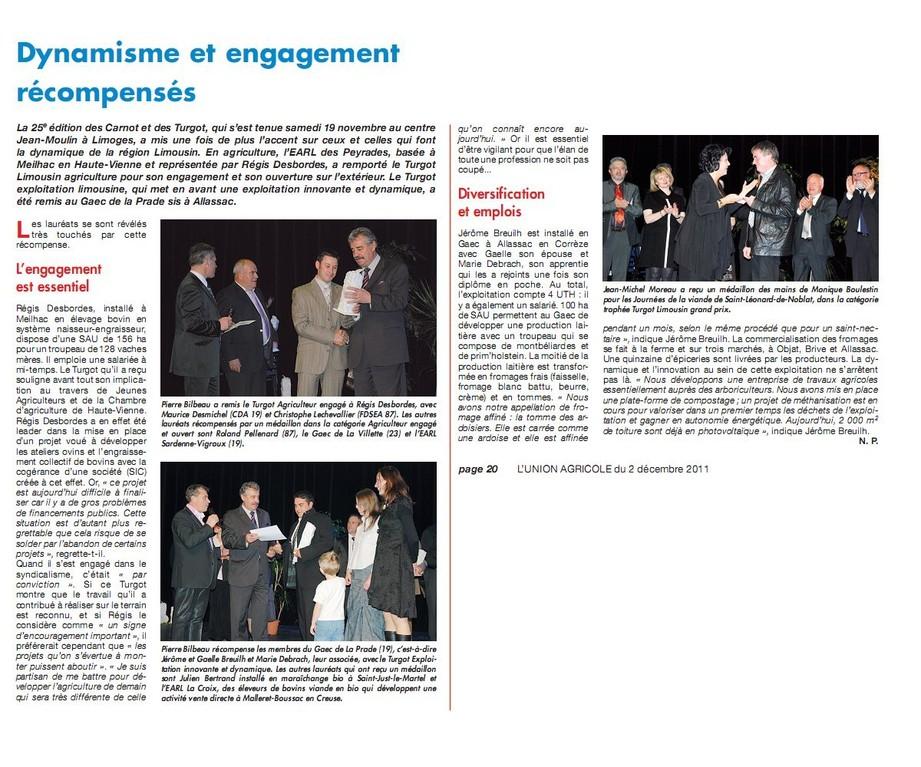 Union Agricole - 2 décembre 2011