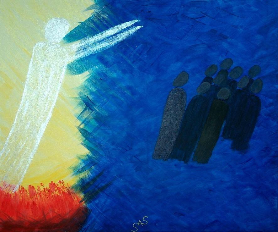 Jesus erscheint zehn Aposteln
