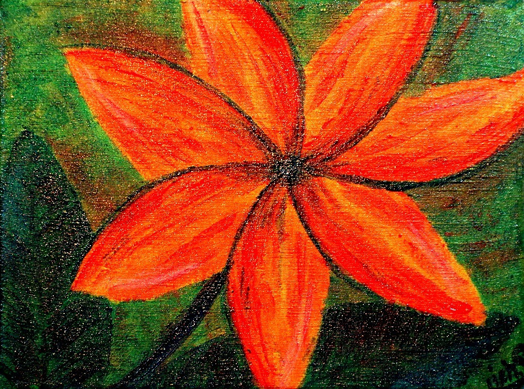 ...in den Blumen