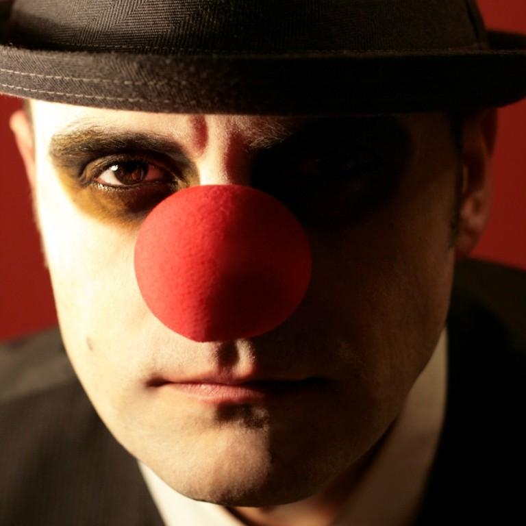 Stan als Clown, perfekt fotografiert von seiner Tochter  © Daniela S.