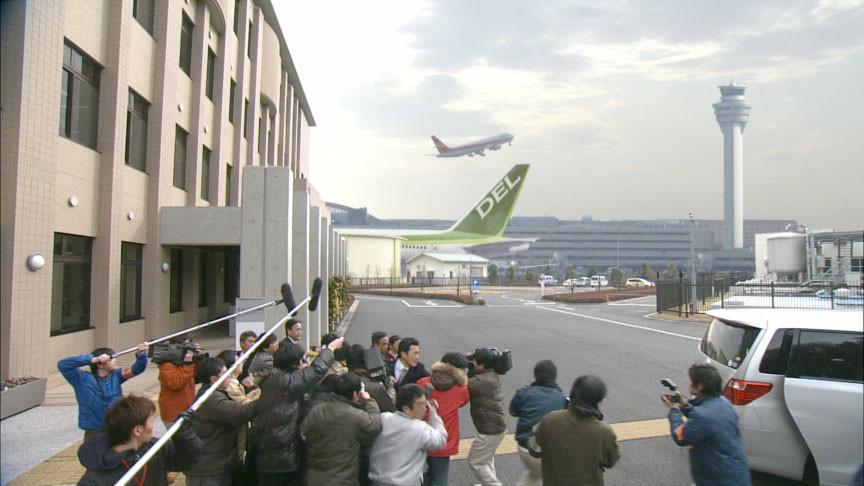 ドラマ「ハガネの女2」水道局で撮影した背景の空部分を差し替えて成田空港移民局に変えました