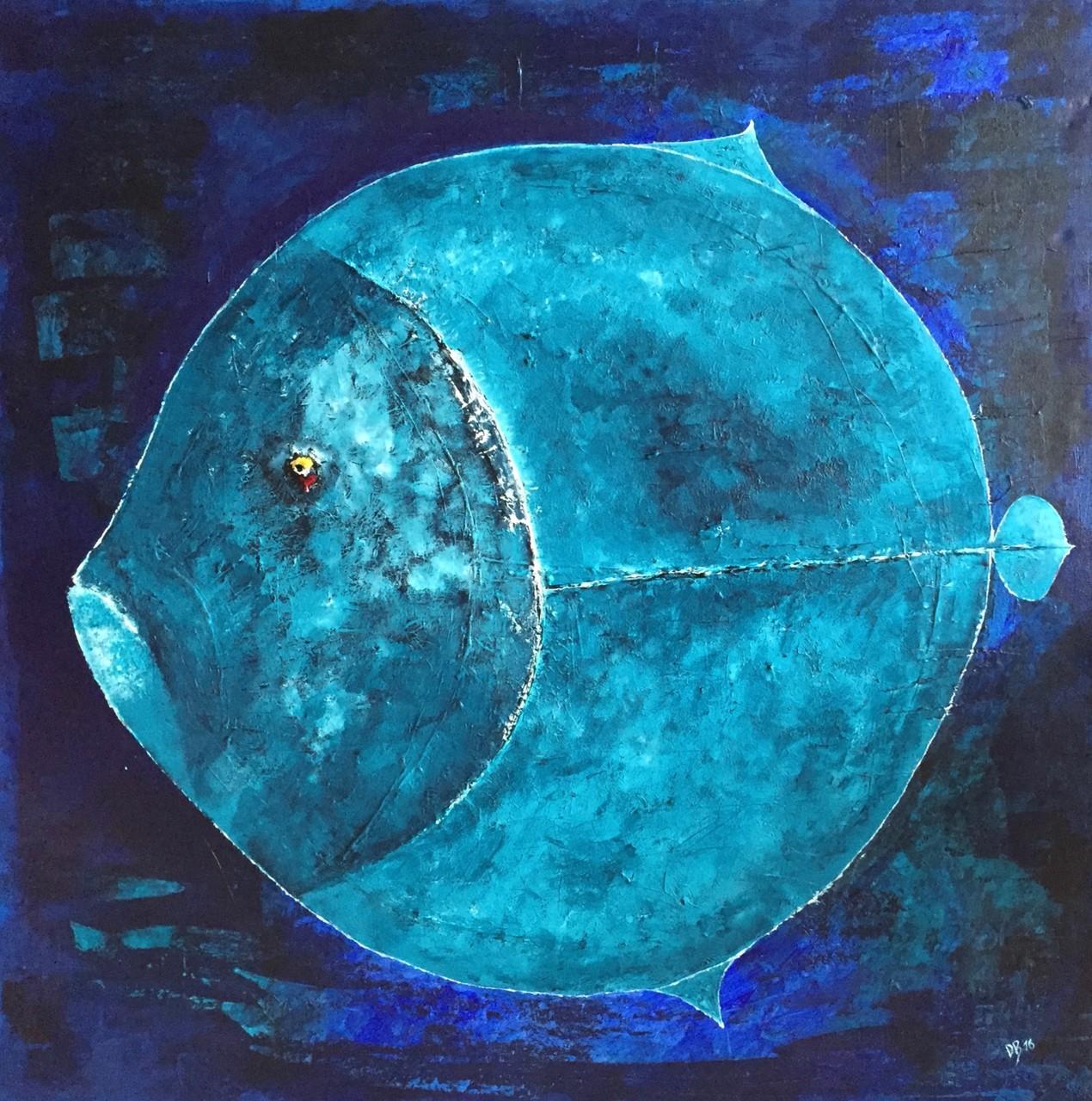 Leinwand Acryl -Fisch 100 x 100