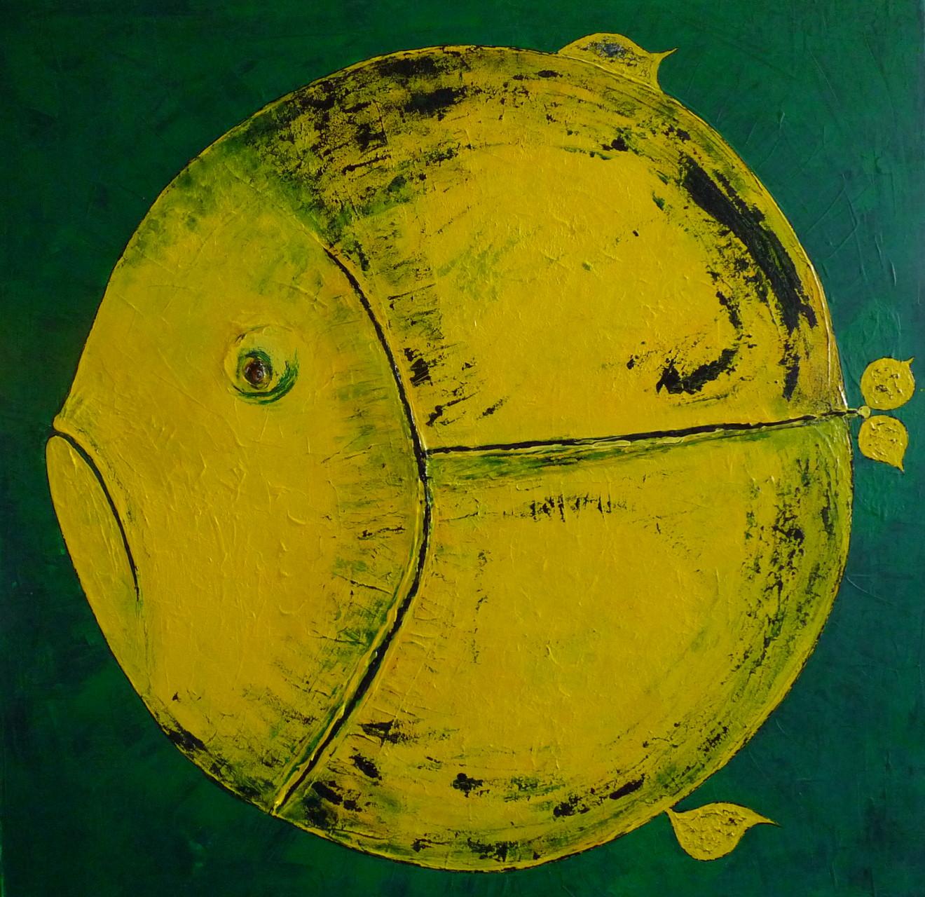 Leinwand Acryl -Fisch 80 x 80