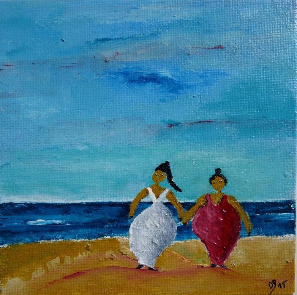 Acryl Frauen am Strand