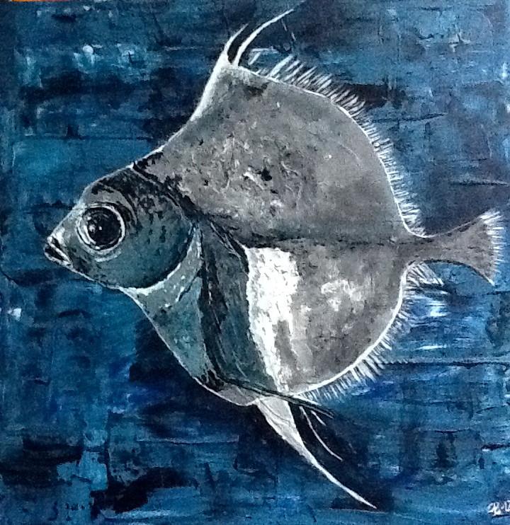 Tiefseefisch 29 x 29 cm Acryl