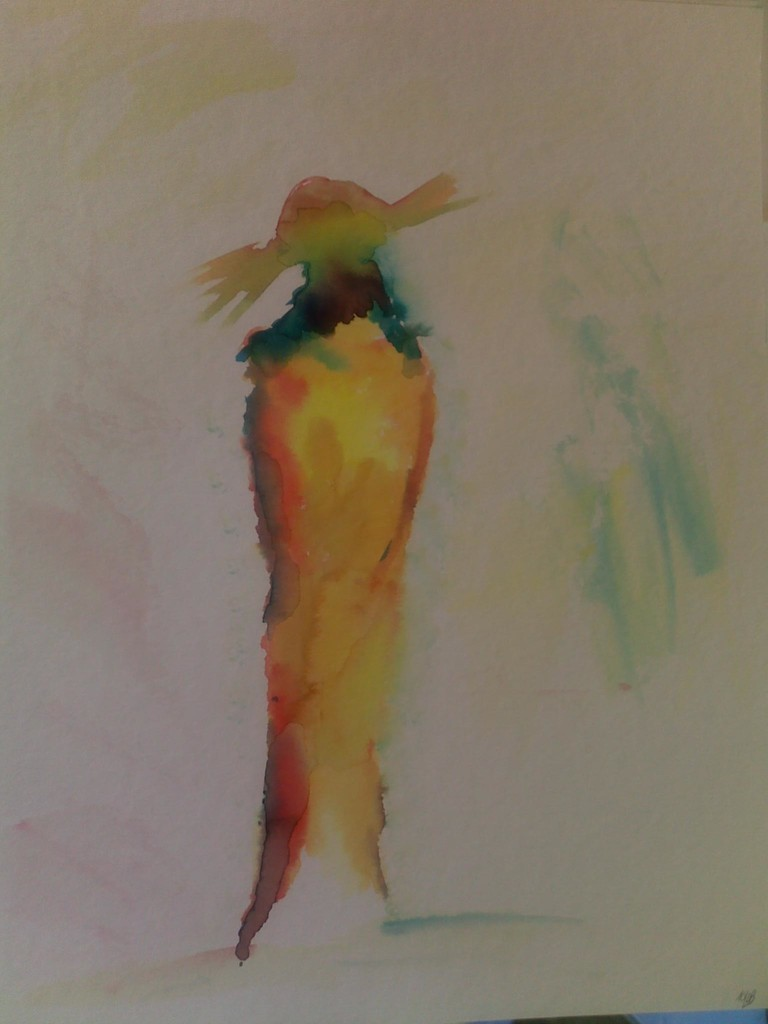 Frau in Aquarell 30 x 40