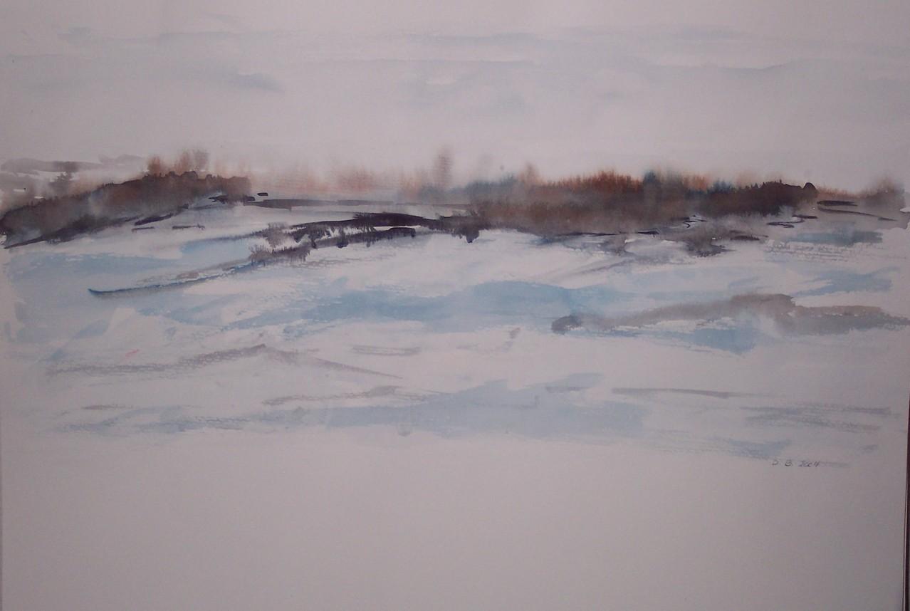 Winteraquarell  30 x 40 aus einer Serie