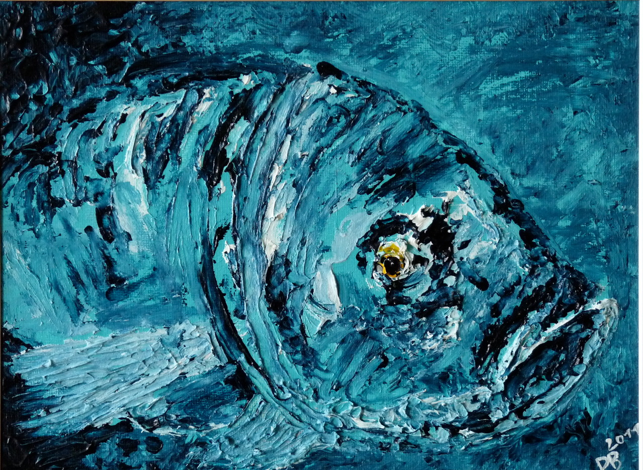 Acryl  Barsch  29 x 25 cm