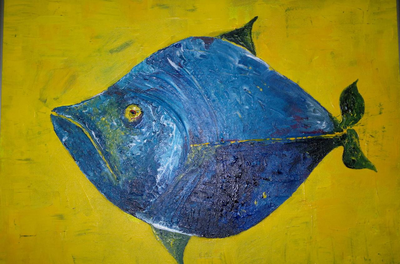 Acryl -Fisch 50 x 70 cm Privatbesitz