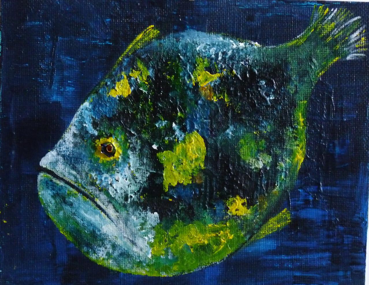 Acryl - Fisch 29 x 25 cm