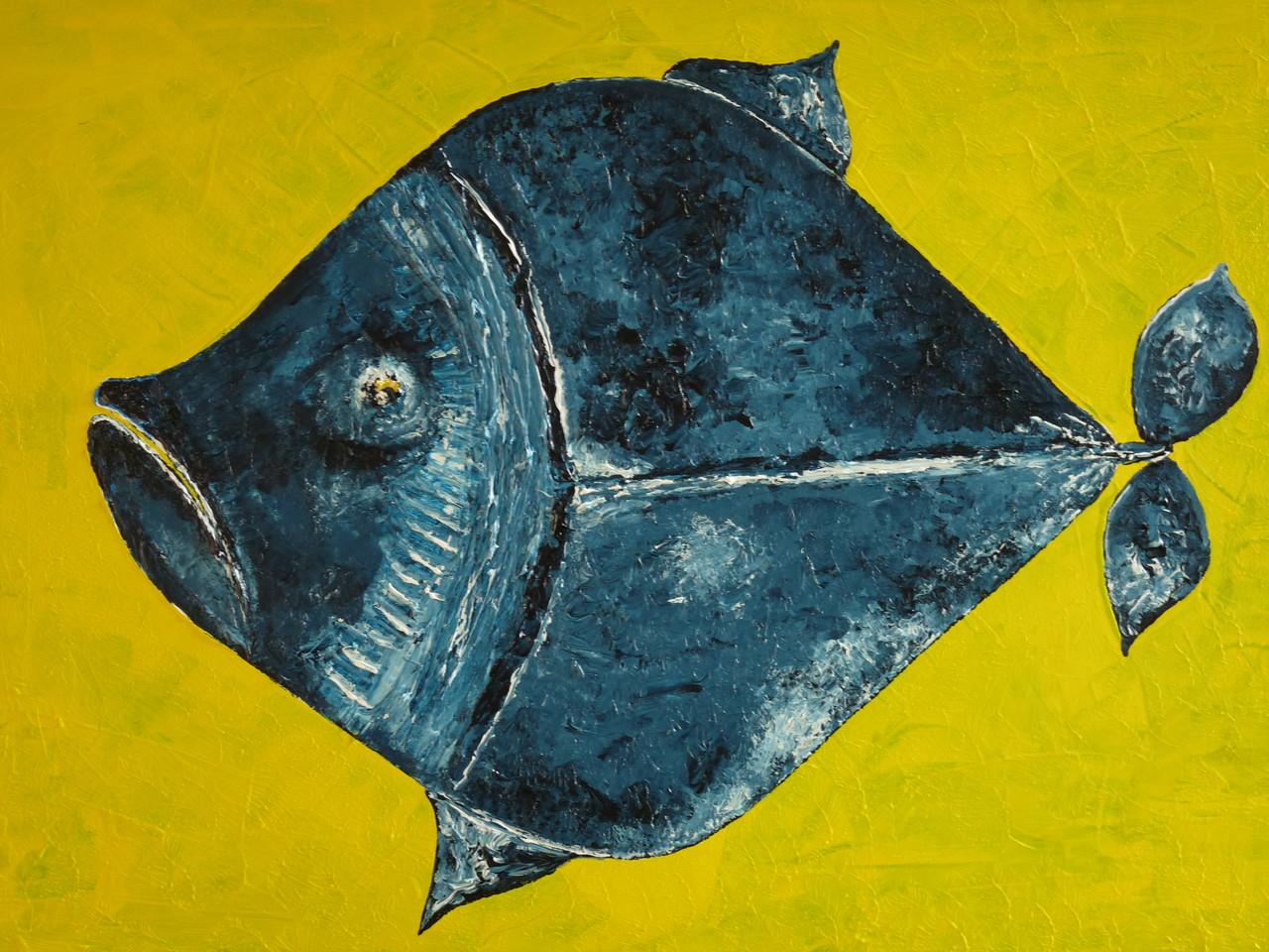 Leinwand 50 x 70 cm Fisch Acryl