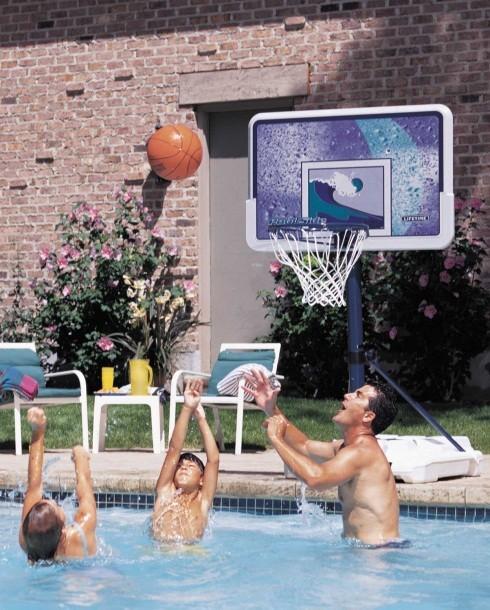 Portable Basketball Pool Goals - Lifetime & Spalding Hoops