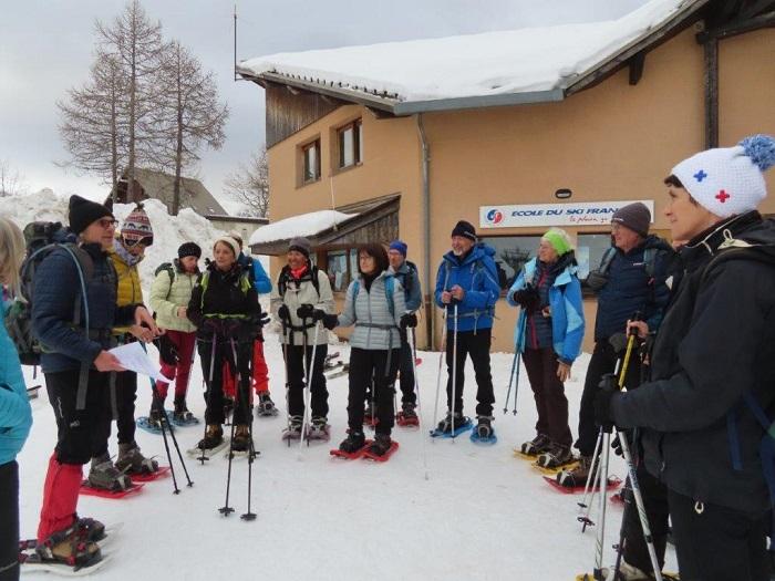 Fête de la randonnée raquetttes 1er février 2020 à Réallon