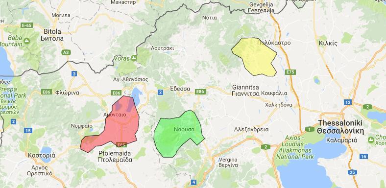 Weinanbaugebiete im Norden Griechenlands