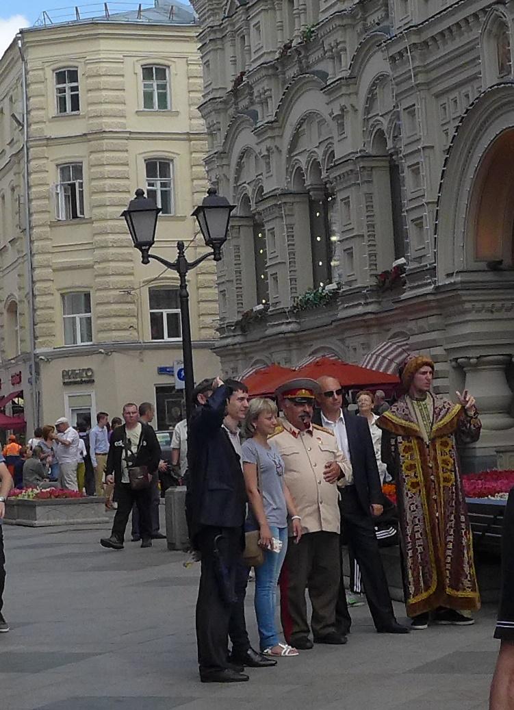 町中の観光客(赤の広場近く)