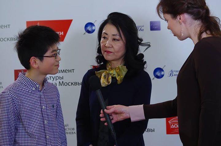 Jang Hung Choe君へのインタビューの様子