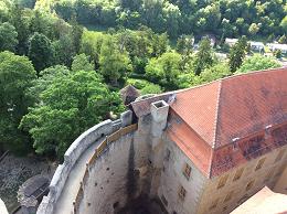 塔の上から下を見ると…