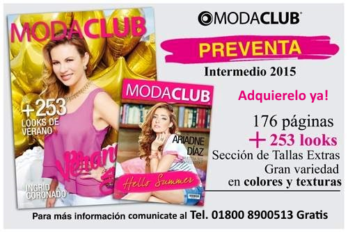 preventa catalogo moda club intermedio verano 2015