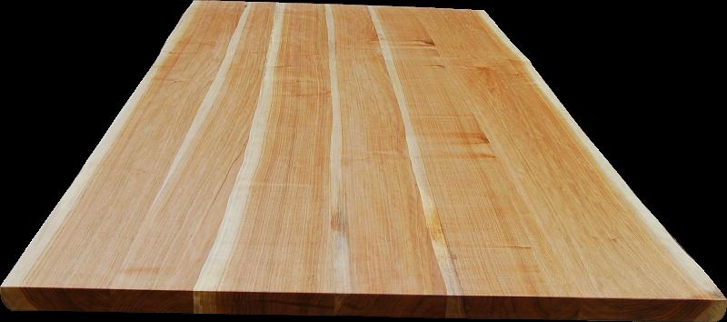 Lebhaftes Maserungsbild durch den Kontrast von Splint- und Kernholz